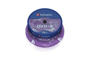 DVD+R VERBATIM CAKEBOX 25PCS